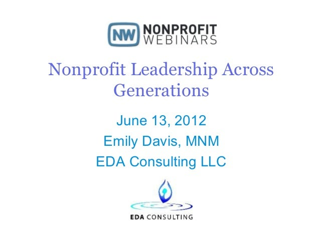 Nonprofit Leadership Across Generations