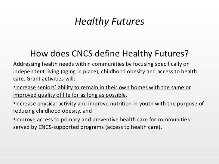 Healthy Futures Focus Area