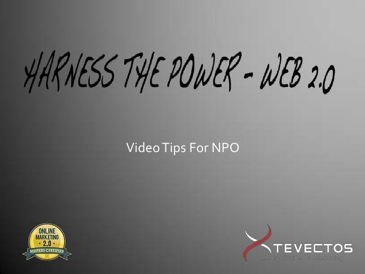 Video Tips For NPO<br />