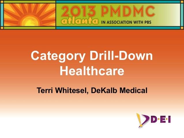 Category Drill-Down Healthcare Terri Whitesel, DeKalb Medical