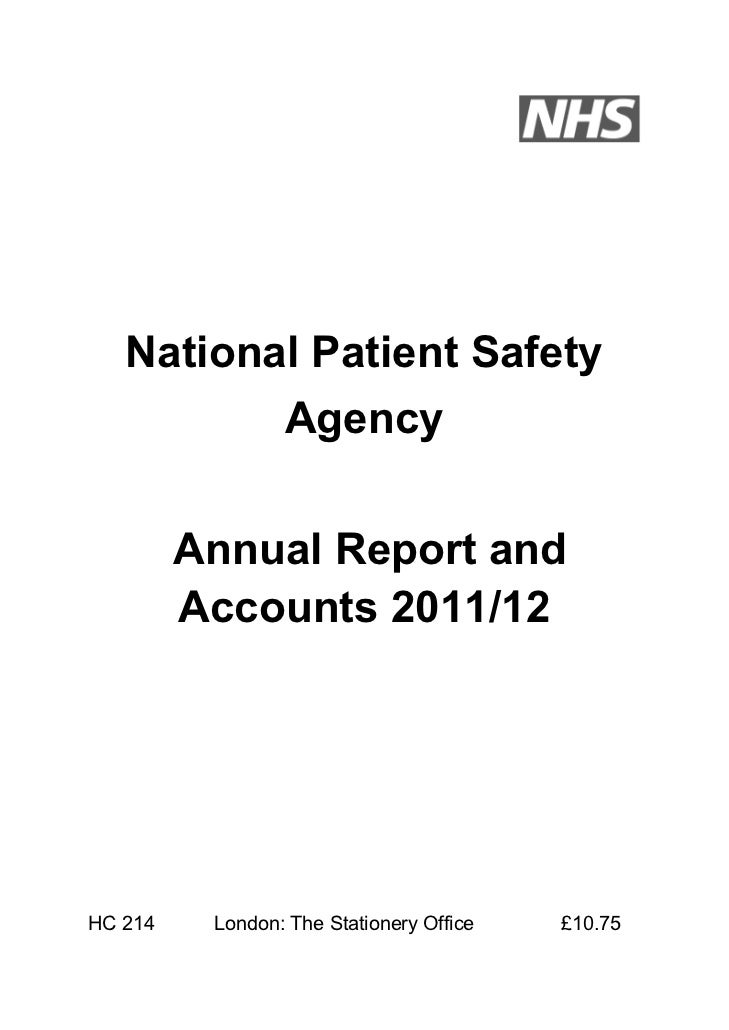 NPSA Annual Report and Accounts 2011-12