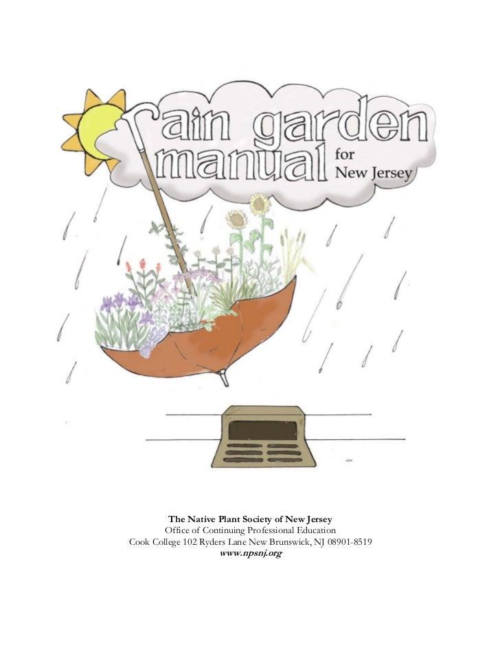 New Jersey Rain Garden Manual - Part 1