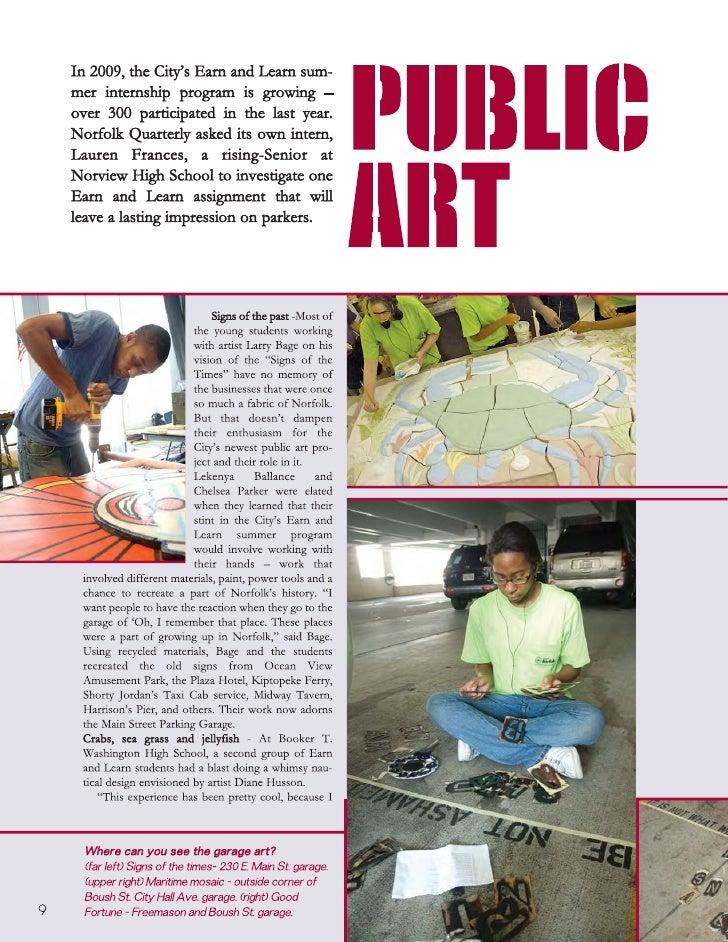 Norfolk's Public Art Earn and Learn Program