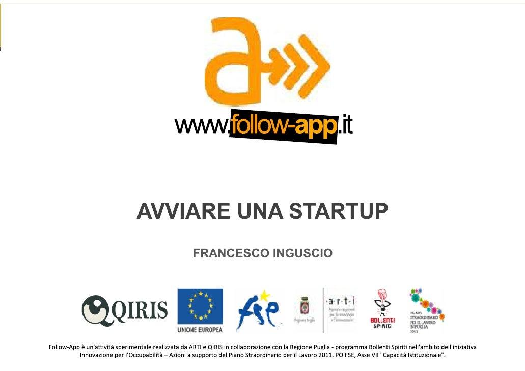 Francesco Inguscio - Avviare una start-up