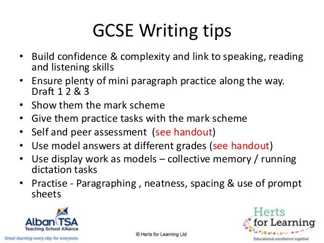 tips for creative writing for gcse english