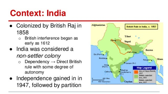 colonization of india In india, from the 1740s to 1763, the british east india company had a conflict with its french counterpart the british finally won in 1763, the british established colonies in india and canada.