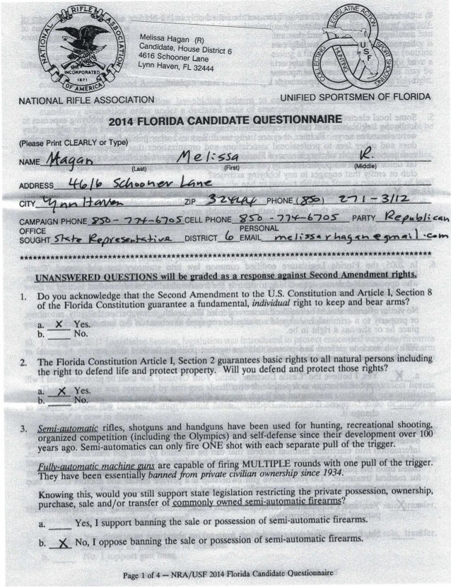 MHagan NRA candidate questionnaire 2014