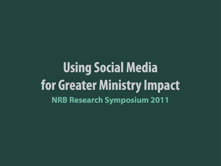 Using Social Media for Greater Ministry Impact