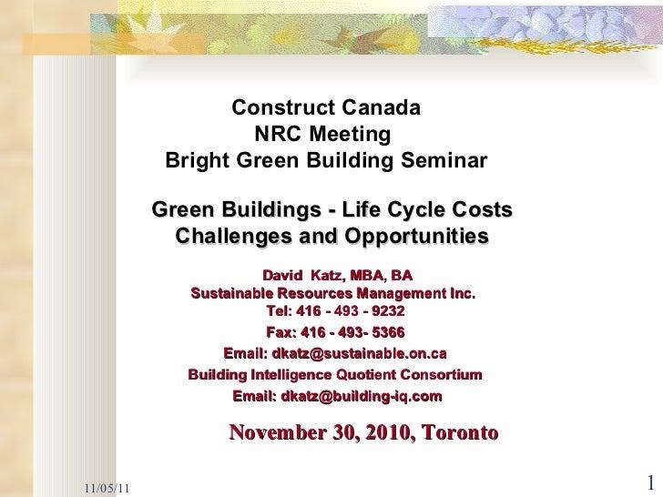 NRC _Green Intelligent Buildings