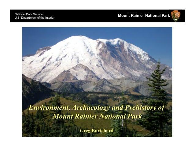 National Park ServiceU.S. Department of the Interior                                  Mount Rainier National Park