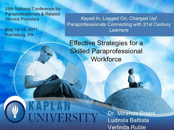 Effective Strategies for a Skilled Paraprofessional Workforce