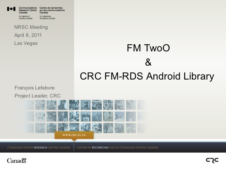 CRC FM TwoO presented to NRSC