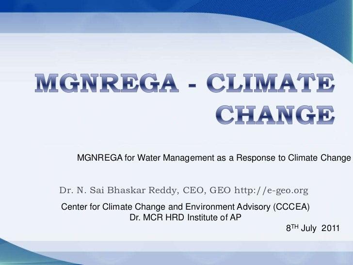 NREGA – climate change impacts