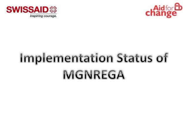 Implementation Status of MGNREGA