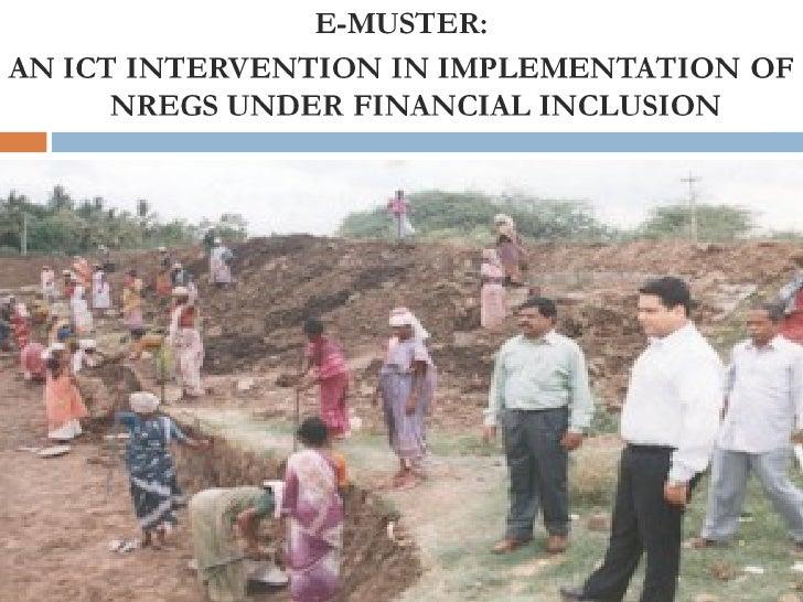 NREGS & FINANCIAL INCLUSION