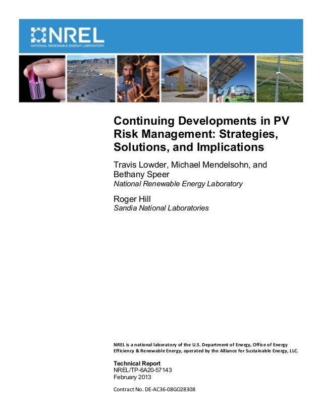 Continuing Developments in PVRisk Management: Strategies,Solutions, and ImplicationsTravis Lowder, Michael Mendelsohn, and...