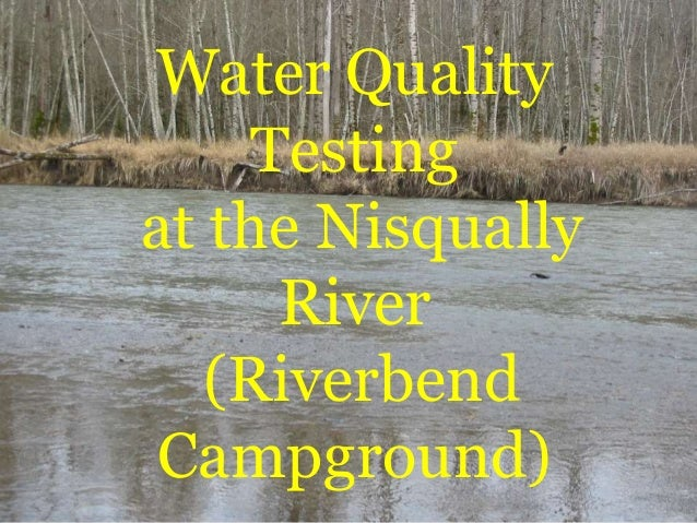 Water QualityTestingat the NisquallyRiver(RiverbendCampground)