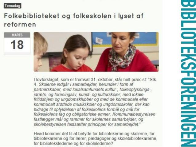 Folkebiblioteket i folkeskolen Nedslag i gode eksempler….. Se mere på db.dk/folkeskole Michel Steen-Hansen db.dk Danmarks ...