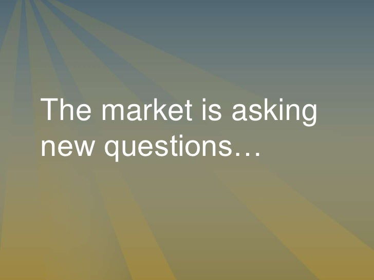Smart Retailing: The market is asking new questions. You need new answers.