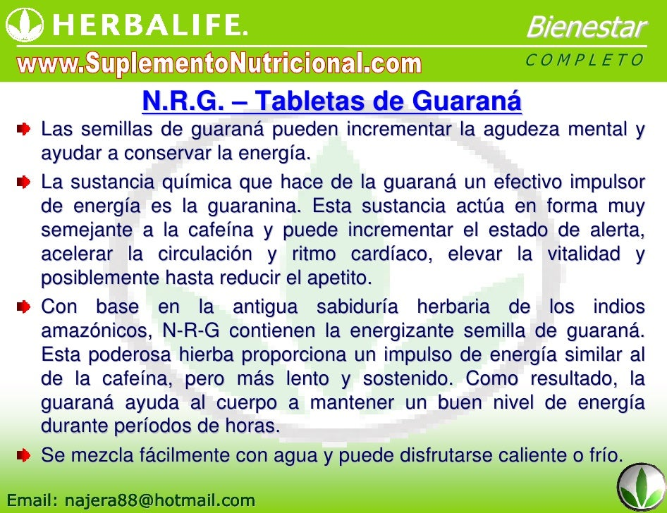 NRG Tabletas de Guarana Herbalife