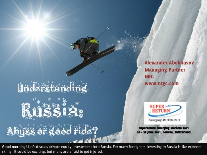Understanding Russia and Private Equity Landscape