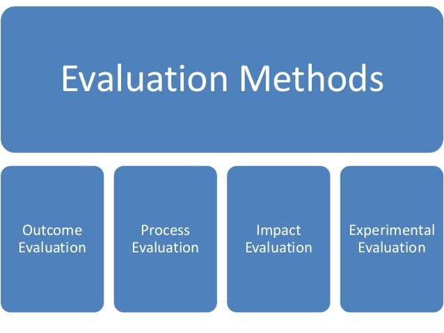 examples of evaluation method