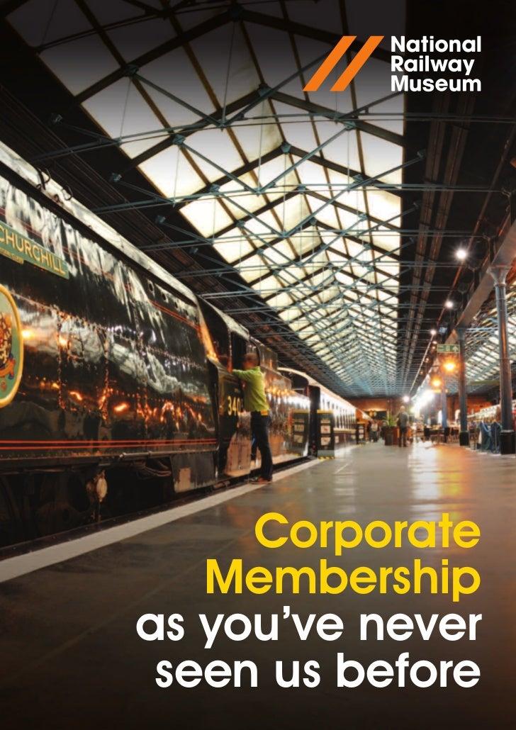 Corporate Membership at the NRM
