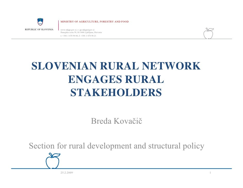 MINISTRY OF AGRICULTURE, FORESTRY AND FOOD  REPUBLIC OF SLOVENIA   www.mkgp.gov.si, e: gp.mkgp@gov.si                     ...