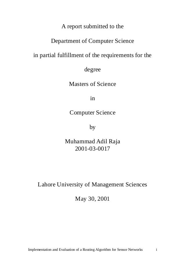 thesis reports computer science