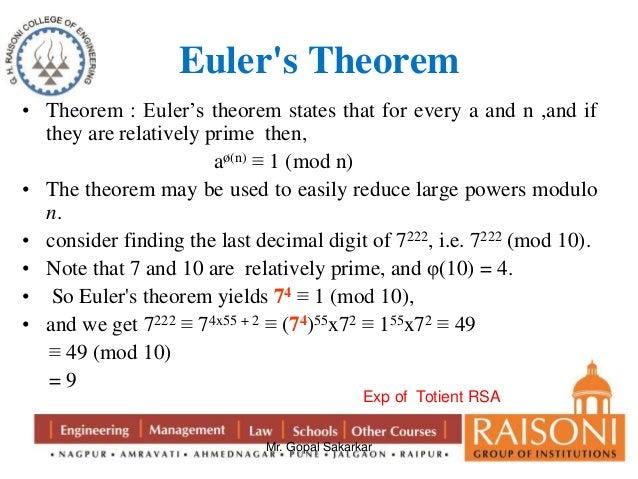 Image Gallery euler's theorem