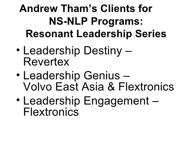 Andrew Tham NLP Training Corporate Clients