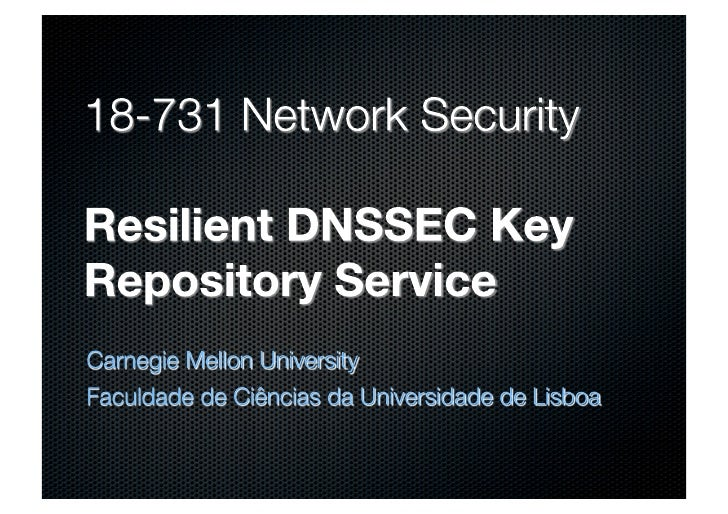 Vanishing Point - Resilient DNSSEC Key Repository