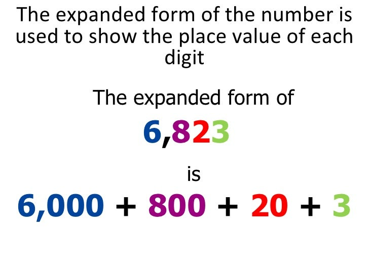 Numbers In Expanded Word Form Numbers In Figure Dinocrofo