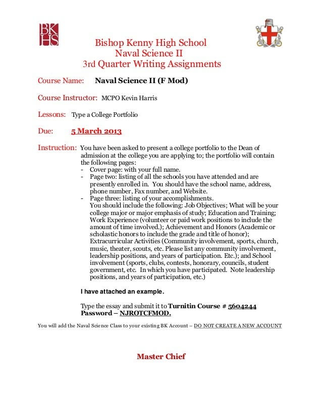 NS2 3RD Quarter Writing Assignment 2012 13 with example