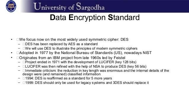 Standards of  Data Encryption
