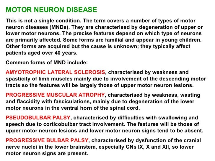 motor neurone disease signs