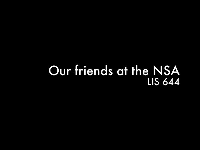Our friends at the NSA