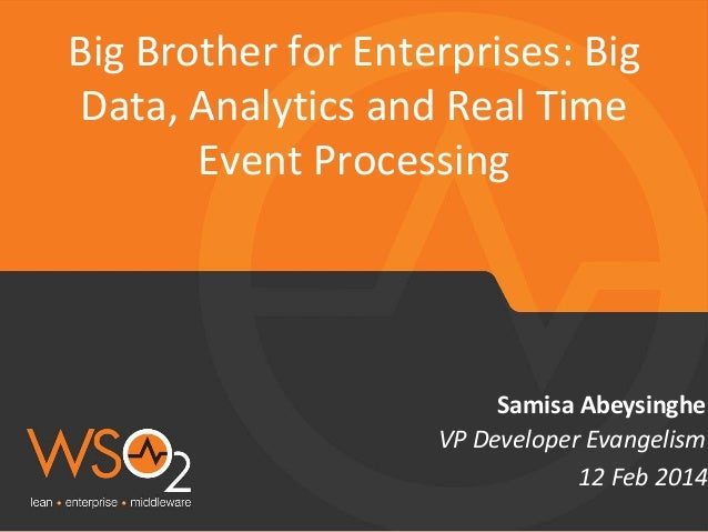 Big Data, Analytics and Real Time Event Processing