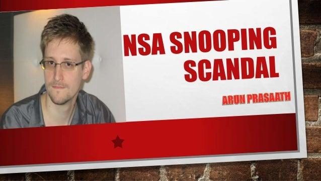 NSA Snooping Scandal