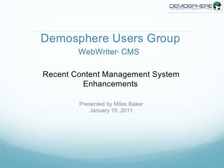 WebWriter - 2011 NSCAA Users Group