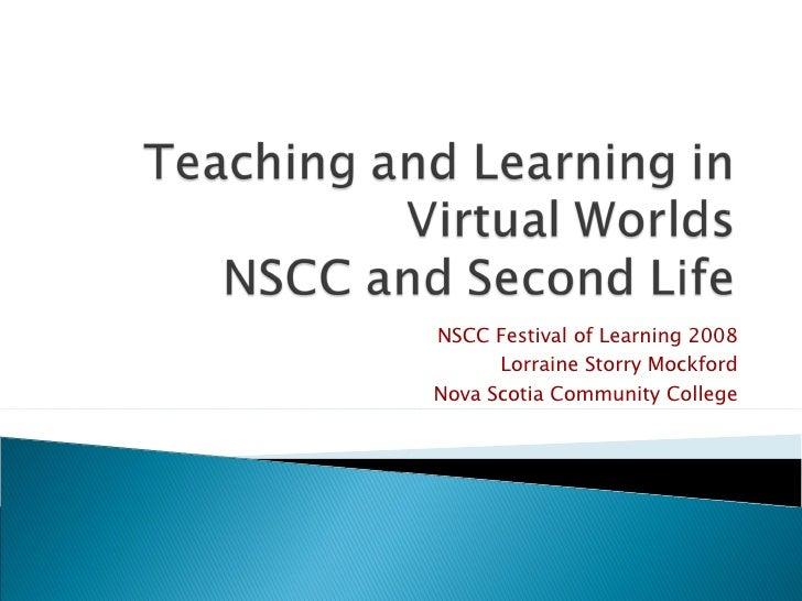 NSCC Festival of Learning 2008 Lorraine Storry Mockford Nova Scotia Community College
