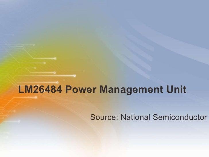 LM26484 Power Management Unit