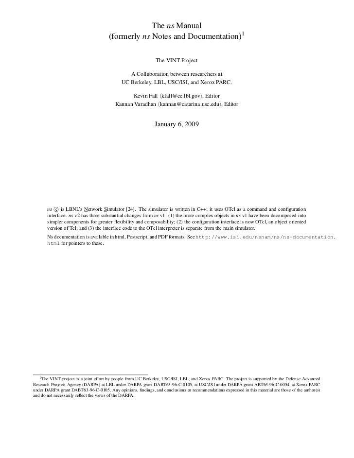 NS-2 Manual