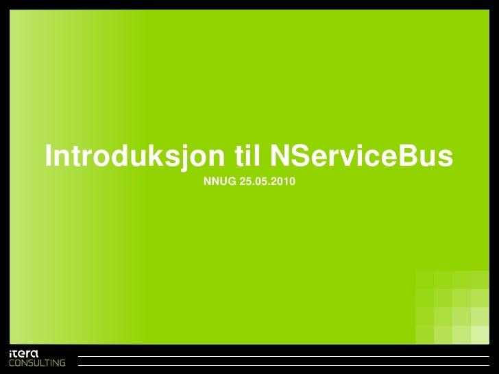 Introduksjon til NServiceBus
