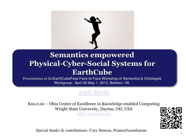 Semantics empowered Physical-Cyber-Social Systems for EarthCube