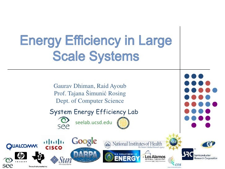 Energy Efficiency in Large Scale Systems