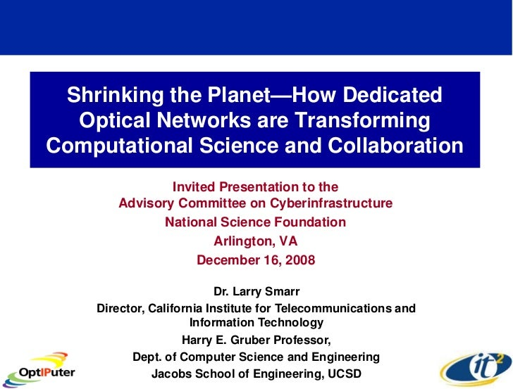 Shrinking the Planet—How Dedicated Optical Networks are Transforming Computational Science and Collaboration
