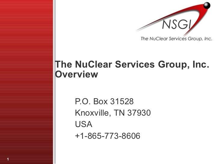 NSGI Overview