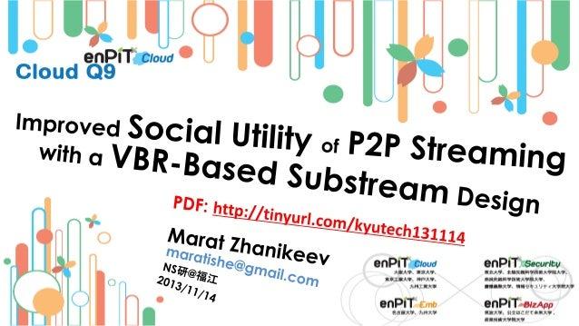 .  .  P2P Streaming Basics (1) … Share  Content Provider (origin)  P2P Network 01 R.Buyya+3 -M.Zhanikeev -- maratishe@gmai...