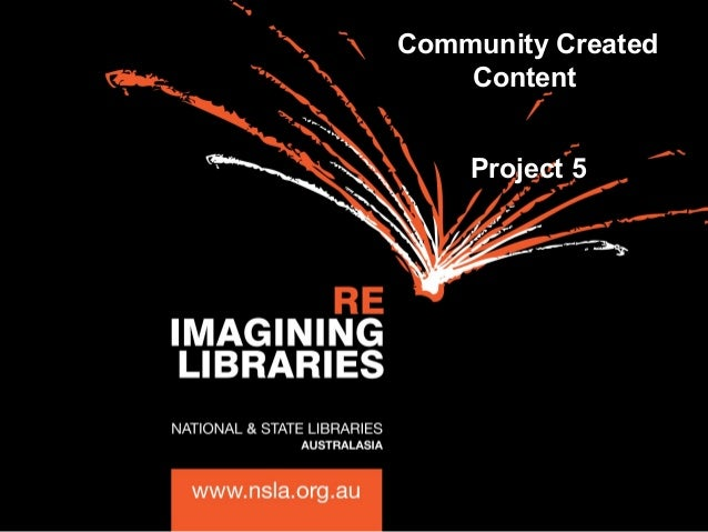 Community Created Content Project 5